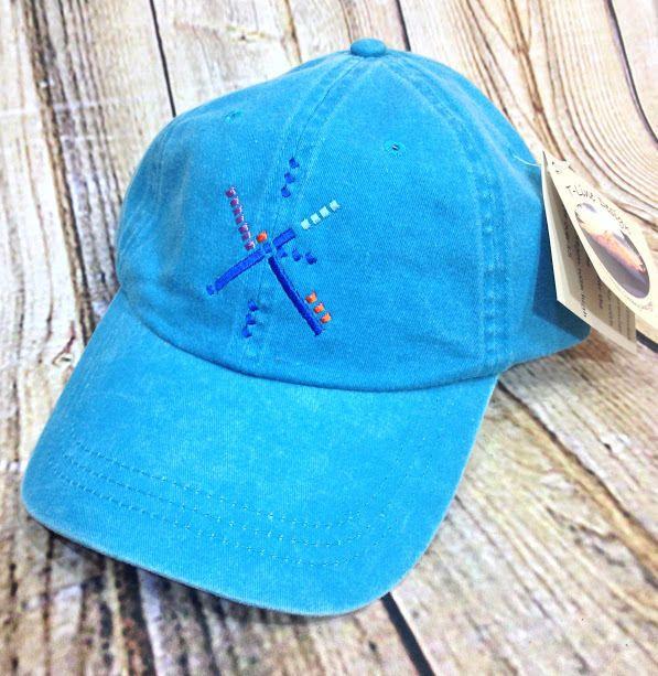 NWT Portland Oregon PDX Airport Carpet Baseball Hat Blue Fahrenheit Headwear New #Fahrenheit #BaseballCap #PDX #Portland #Airport #NWT