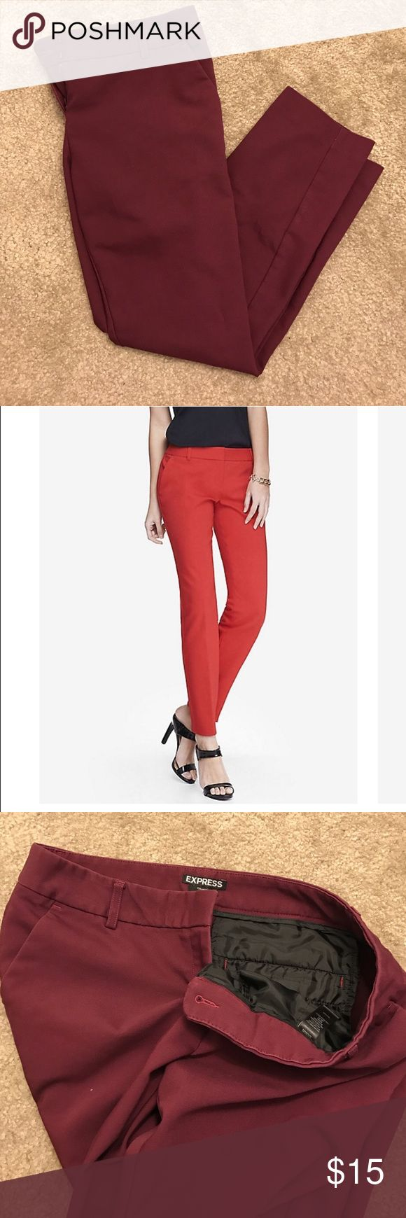 Express ankle pant EXPRESS ankle pant. Dark red. Columnist low rise for. Express Pants Ankle & Cropped