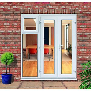 Wickes uPVC French Doors 6ft With 1 Side Sash Panel 600mm | Wickes.co.uk £629