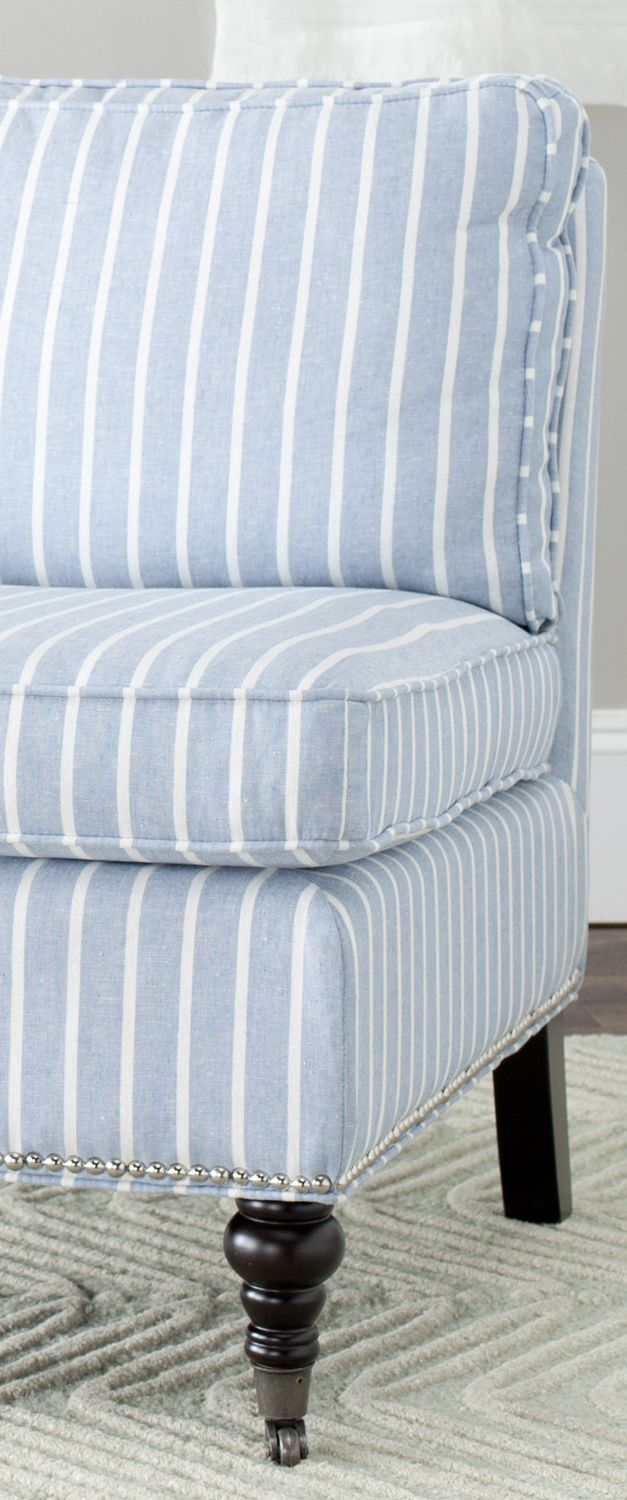 Slipcover fabric by the yard - Savahieh Zoey Stripe Chair