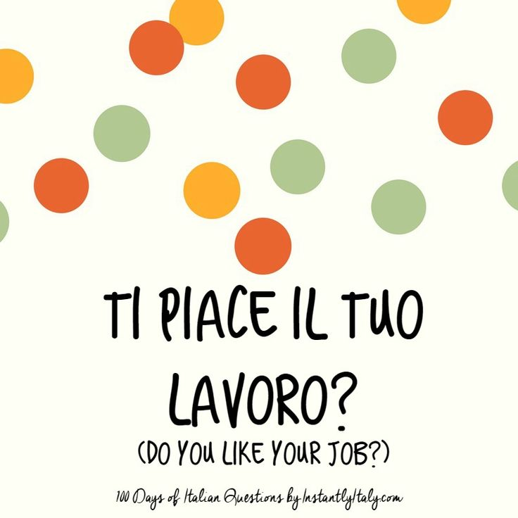 11/100 - 100 Days of Italian Questions on Instagram
