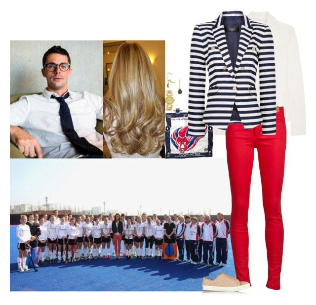 """Visiting the Team Great Britain Hockey teams at London's Olympic Park with Henry"" by lady-maud ❤ liked on Polyvore featuring Chloé, Joe's Jeans, Calvin Klein, MANGO, Just Cavalli and Tory Burch"