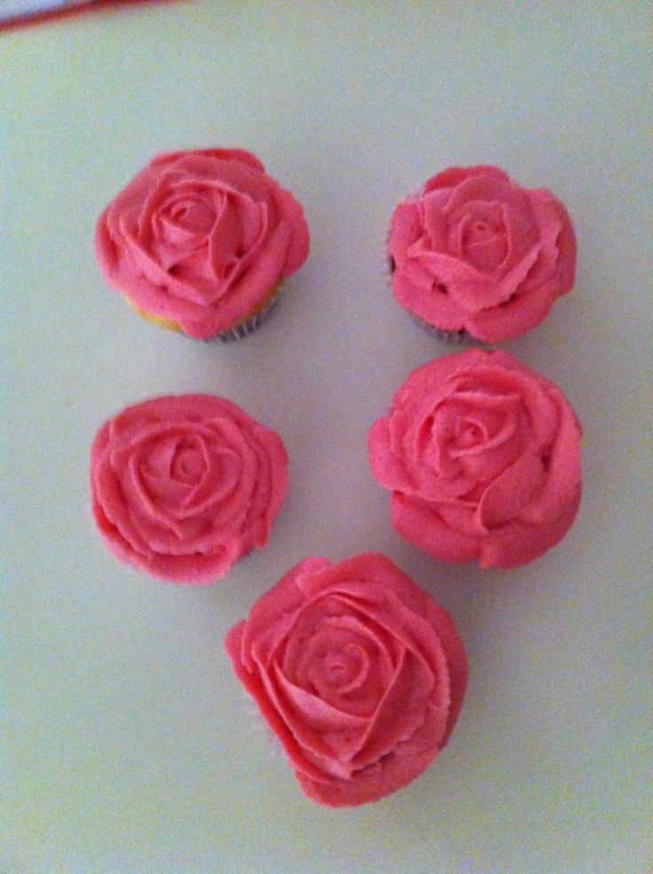 Strawberry buttercream roses