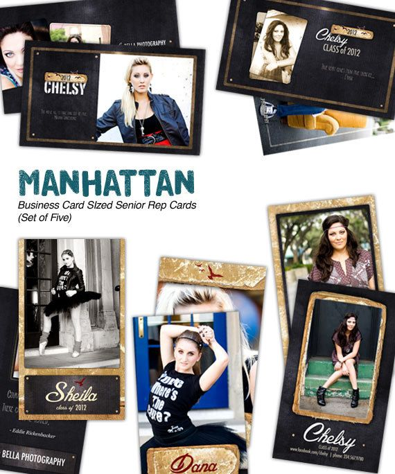 Manhattan Senior Rep Cards Set of Five by frankandfrida on Etsy, $22.00