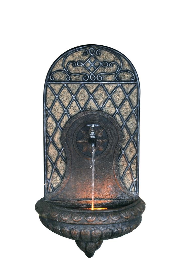 Faucet Wall Fountain W/ Halogen Light