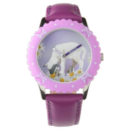 Baby Lambs first steps girly wrist watch
