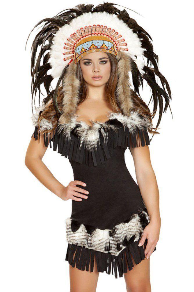 Kostum Damen Schwarz Indianer Kostum Damen Kostume Damen Tierkostum Damen
