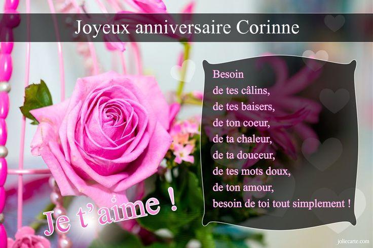 Cartes virtuelles joyeux anniversaire Corinne