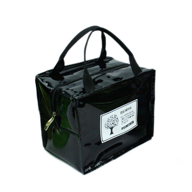 Pu leather insulated lunch bag for men women kids lunch containers bolsas termicas para comida comida thermal bag picnic zipper