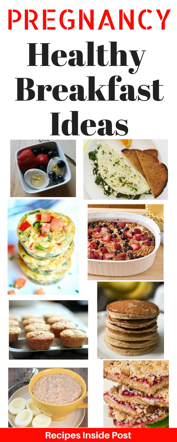 Healthy Breakfast Ideas for Pregnant Moma's.