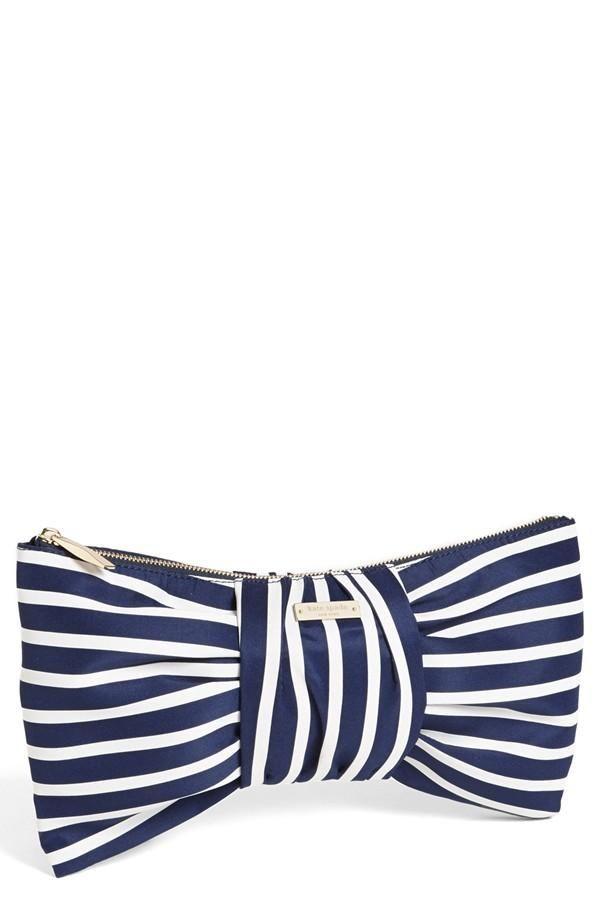 Bow + Stripes = Clutch love!