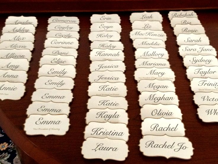 Recruitment Name Tags In love with these. So classy and would look amazing with…