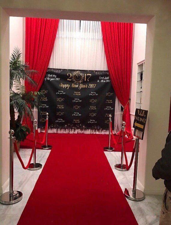 Listo Para Colgar Boda O Evento Telon De Fondo Para La Etsy Red Carpet Party Red Carpet Runner Lounge Party