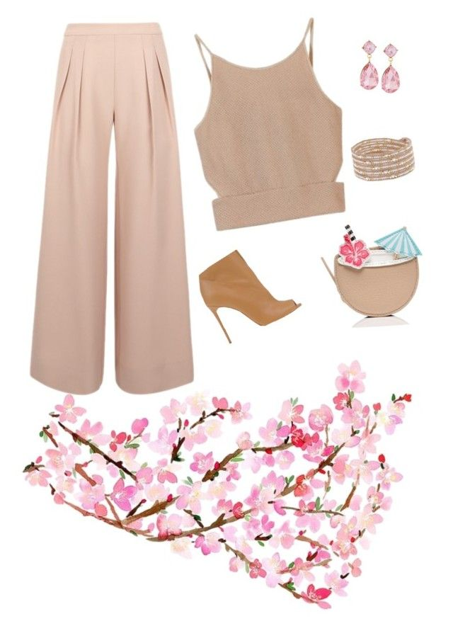 """""""culotte #amateur 2"""" by nuriranaa on Polyvore featuring Antipodium, Casadei, Emily & Ashley, Chan Luu, Kate Spade, TrickyTrend and culottes"""
