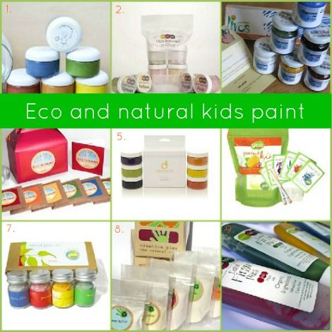 Eco and natural kids paint. Teacha bout color science, then paint