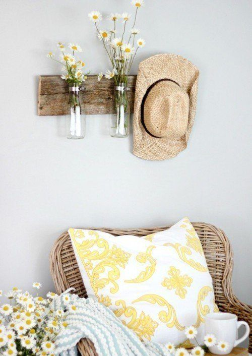 Used and antiqueitems can oftentimes make the most interesting decor.Not only do repurposed pieces add characterand nostalgia to your space,but in the process, you're also recycling and breathing new life into items that would otherwise be discarded. This fun Milk...