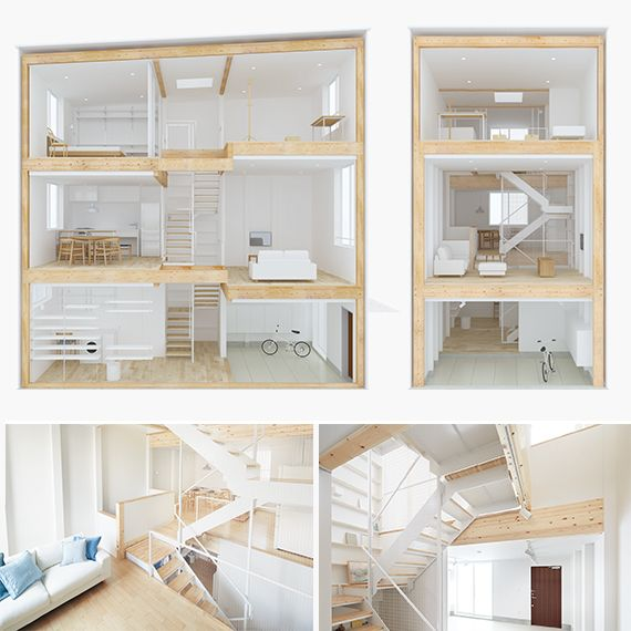 New MUJI vertical house is only fourteen and a half feet wide : TreeHugger