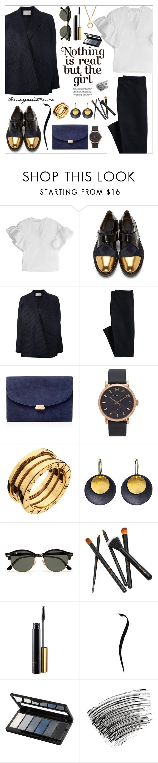 """..."" by margarita-m-a ❤ liked on Polyvore featuring Victoria, Victoria Beckham, Marni, Maison Rabih Kayrouz, Canvas by Lands' End, Mansur Gavriel, Marc Jacobs, Bulgari, Hissia, Ray-Ban and Isadora"