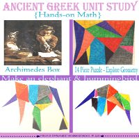 Ancient Greece Unit Study.Play Stomachion Like Archimedes {Explore Geometry}