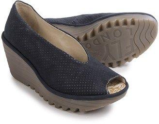 Fly London Yury Perf Shoes - Nubuck Wedge Heel (For Women) #wedge