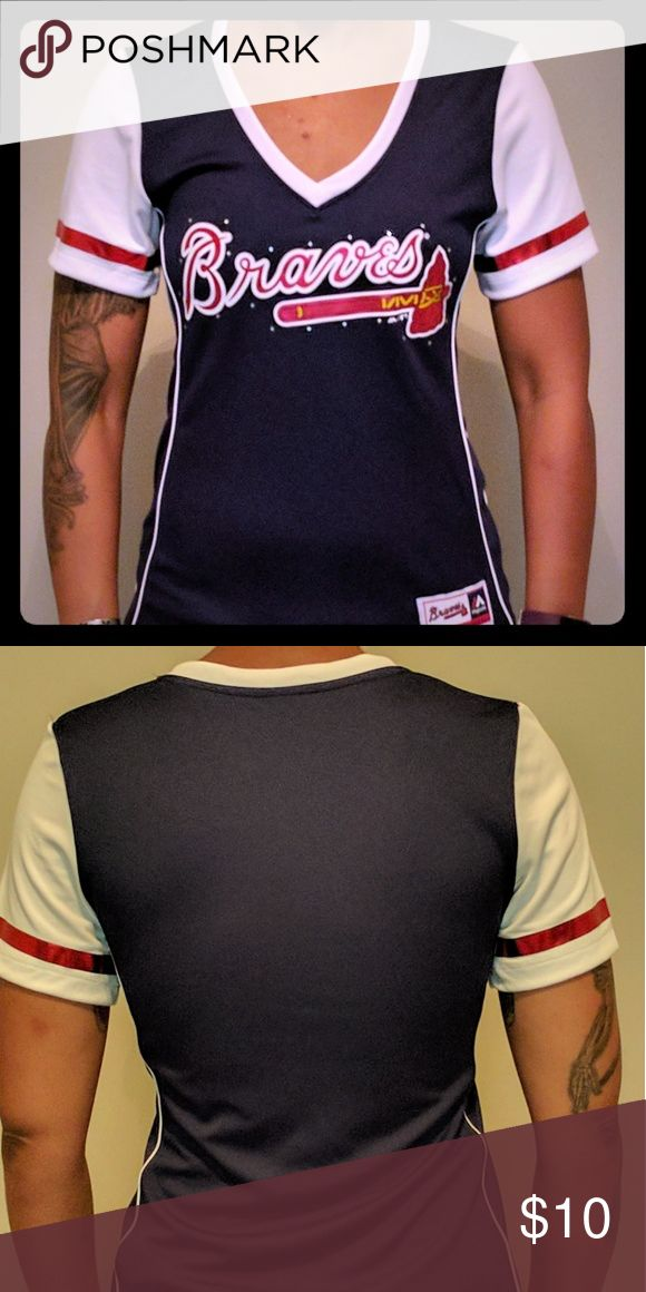 Atlanta Braves shirt Show your team pride with this super cute Atlanta Braves shirt. New without tags. Majestic Tops Tees - Short Sleeve