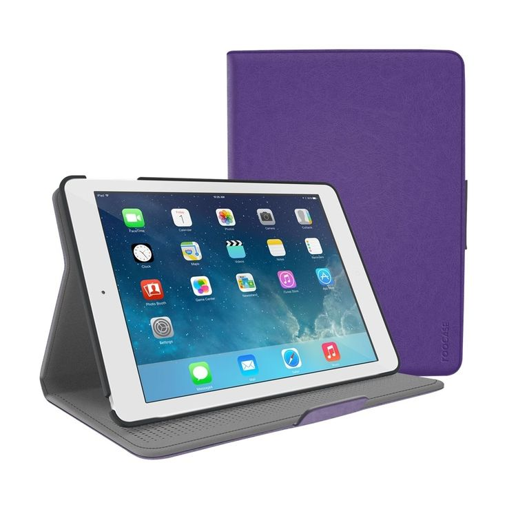 RooCase - Orb Folio Protective Case for Apple® iPad® Air and iPad Air 2 - Purple, RC-ORB-FOL-IPD-AIR2-PR