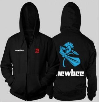Dota 2 Team Newbee hoodie para meninos XXXL Hearthstone zíper camisola de lã