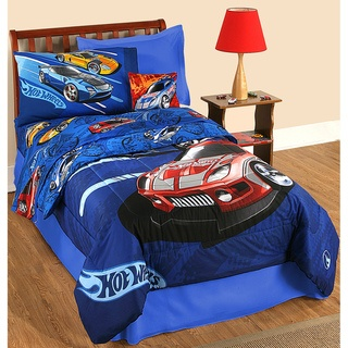 @Overstock - With a comforter, two sheets and two pillowcases, this bed in a bag set has everything you need to finish the bed of your little Hot Wheels enthusiast. The items in this set feature a stylish Hot Wheels cars pattern. http://www.overstock.com/Bedding-Bath/Hot-Wheels-Race-Twin-size-Bed-in-a-Bag-with-Sheet-Set/7359036/product.html?CID=214117 $69.99