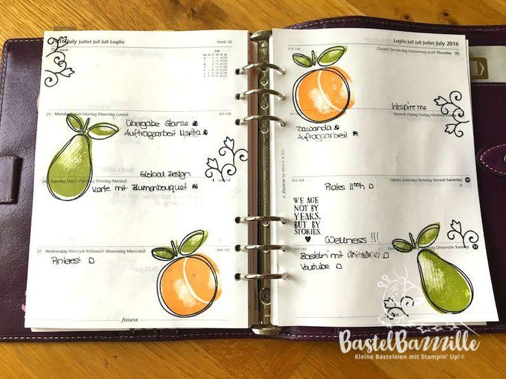 Filofax, Filofaxing, Malden, Journal, Organizer, Berlin, SU, Stampin Up, Stempeln, stanzen staunen, BastelBazzzille, Fresh Fruit