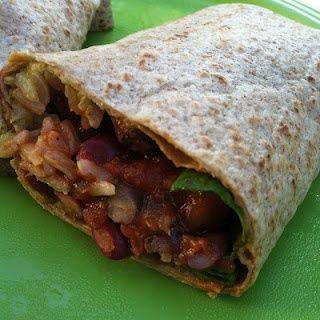 Bean & Rice Burritos #Recipe #Food #Dinner