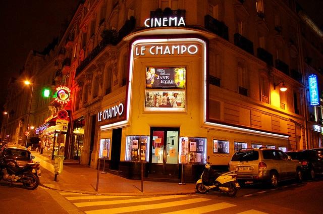 Cinéma le Champo, rue Champollion 2, Paris.