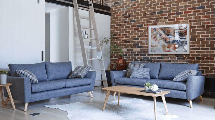 Scandi Fabric Sofa | Domayne
