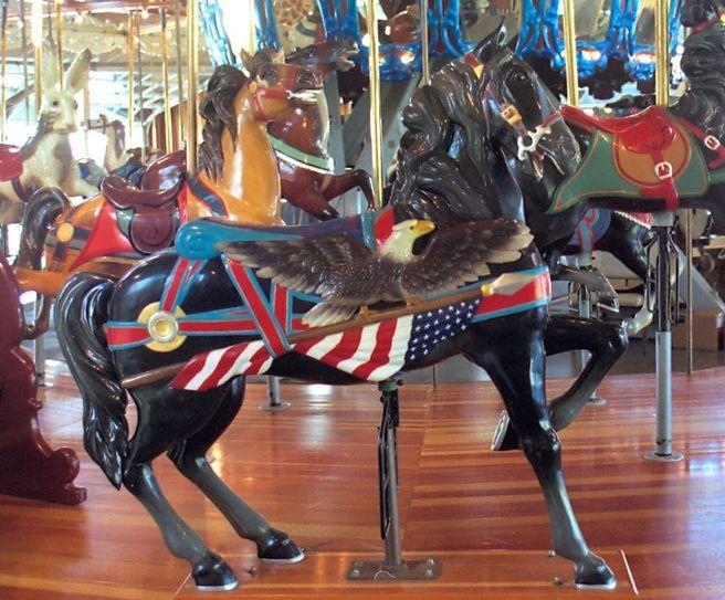 1991 Carousel Works Dentzel flag Stander, Richland Park, Mansfield, OH