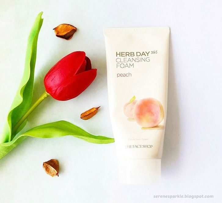 The Face Shop Herb Day 365 Cleansing Foam Peach Review |Serene Sparkle