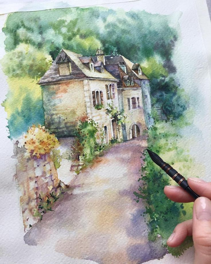 "5,003 Likes, 14 Comments - Watercolor illustrations (@watercolor.illustrations) on Instagram: "" Watercolorist: @liza_artdesign #waterblog #акварель #aquarelle #drawing #art #artist #artwork…"""