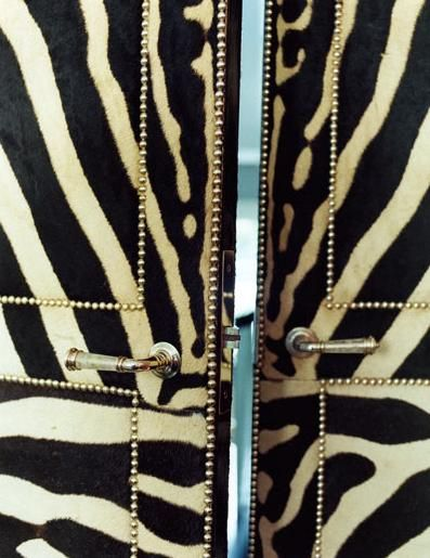 Zebra Doors!: Interior, Idea, Zebra Doors, Upholstered Door, Miles Redd, Animal Prints, Zebra Print, Zebras