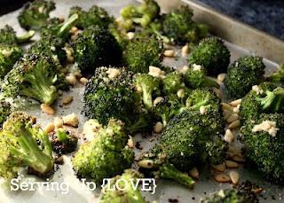 roasted broccoli @ servinguplove.blogspot