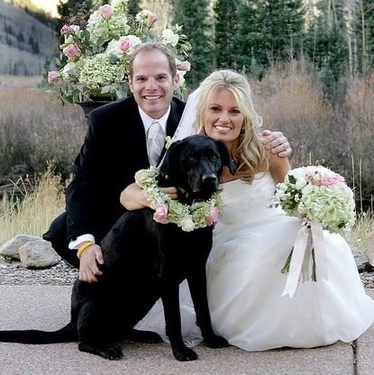 Black Labrador Dog Flower Crown Wedding Bride Amp Groom Toni