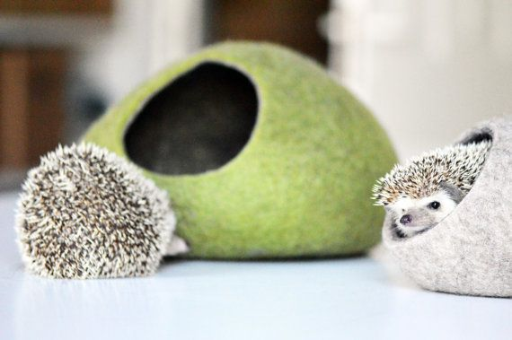 Hedgehog bed / small animal cave / small pet by SimplicityOfFelt