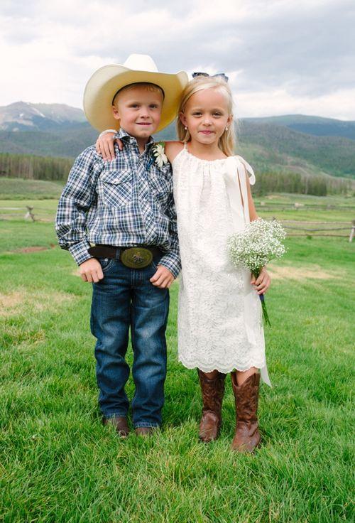 country living - wedding attire for flower girl and ring bearer