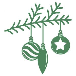 Silhouette Design Store - View Design #164722: christmas tree branch