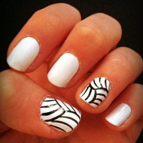 Volleyball - paint all other nails some other color besides white