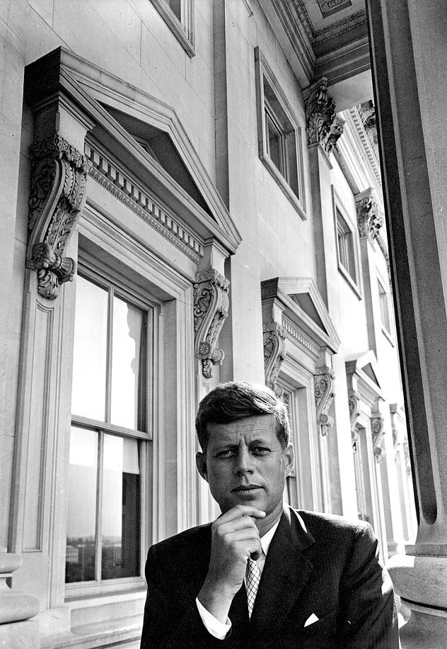 """""""Senator John F. Kennedy photographed by Arnold Newman outside the US Capital in Washington D.C., 1953."""""""