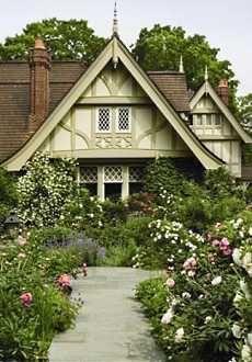 Leaded glass windows and tudor trim english cottages for English tudor cottage