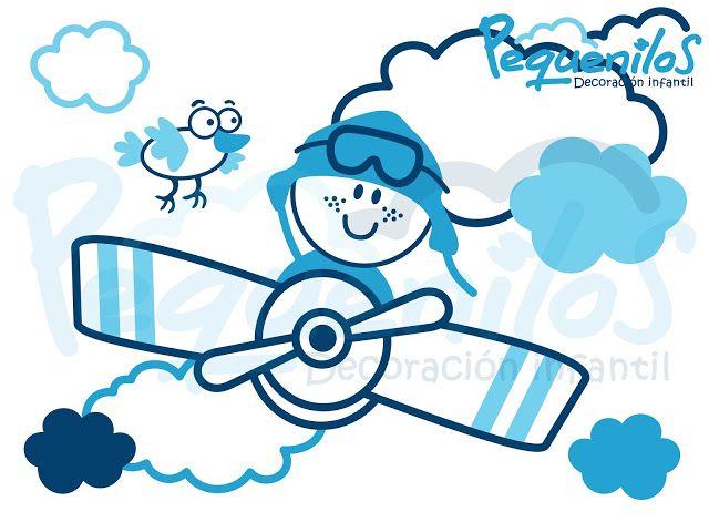 Pequenilos: Niño viajando en avioneta y pájaro
