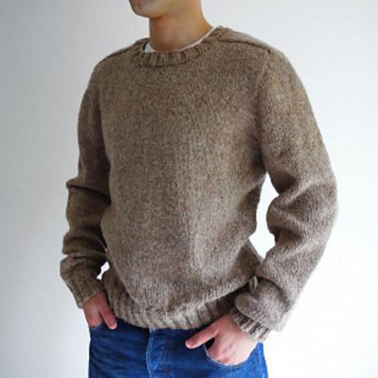 """This pattern is: * Seamless * Knitted from the top * For men sizes from 91.5 [101.5, 111.5, 122]cm / 36 [40, 44, 48]"""" chest. You would need CIRCULAR needles to do this pattern.This pattern is designed to achieve three objectives:Simple designSomething that keep you busy and enjoyableA finishable knitting projectThis top-down men's saddle shoulder sweater pattern is constructed in a unique method. It is also seamless so there is no need for you to sew up at the end of knitting. A proj..."""