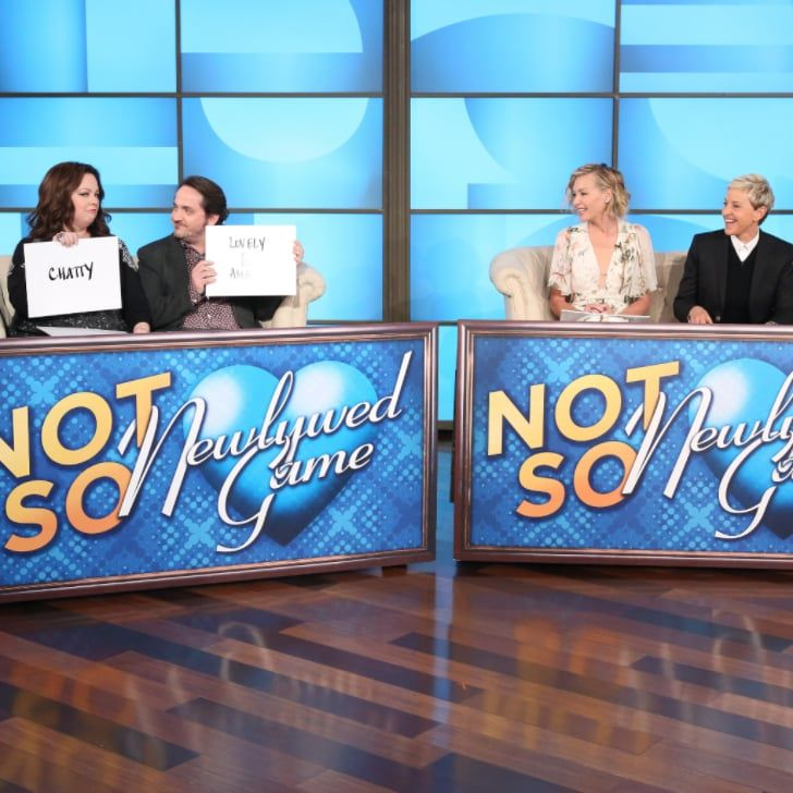 Pin for Later: Melissa McCarthy and Ellen DeGeneres Battle It Out With Their Spouses in the Not-So-Newlywed Game