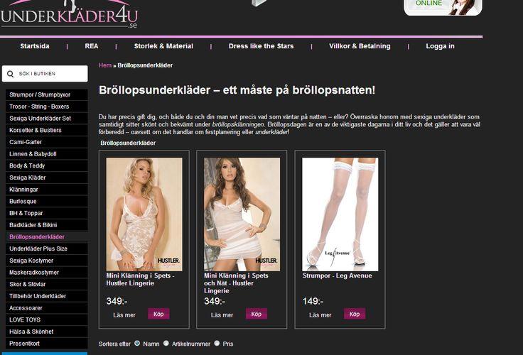 Bröllopsunderkläder på nätet. Köp Sexiga Brudunderkläder billigare Onl...