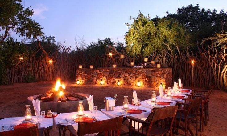 Tradicional African Boma dinner - Madikwe Game Reserve, South Africa