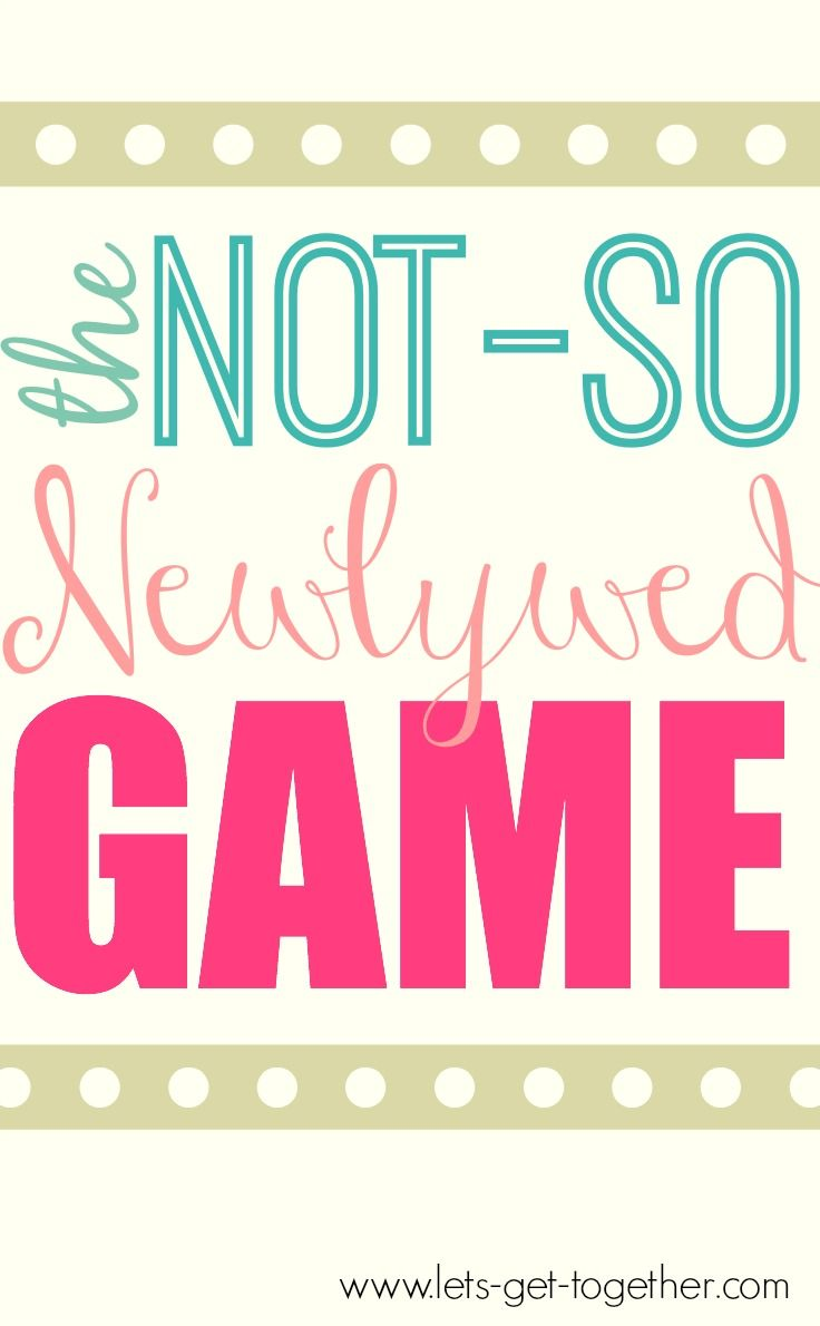 The Not-So Newlywed Game from Let's Get Together